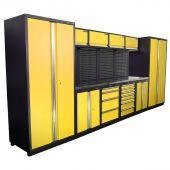 Kraftmeister Werkstatteinrichtung Winnipeg Edelstahl Nextgen gelb