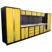 Kraftmeister Werkstatteinrichtung Montreal Edelstahl Nextgen gelb