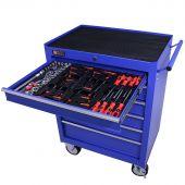 George Tools Werkzeugwagen gefüllt 6 Schubladen 80-teilig blau