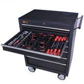 George Tools Werkzeugwagen gefüllt 7 Schubladen 80-teilig anthrazit