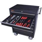 George Tools Werkzeugwagen gefüllt 7 Schubladen 144-teilig anthrazit