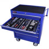 George Tools Werkzeugwagen gefüllt 7 Schubladen 253-teilig blau