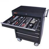 George Tools Werkzeugwagen gefüllt 6 Schubladen 253-teilig anthrazit