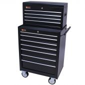 George Tools Werkzeugwagen mit Kiste 11 Schubladen schwarz