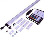 Farbige LED Lampe für Werkzeugwand mit Rolltür Pro 120 cm